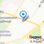 Средняя общеобразовательная школа №25 на карте Ярославля