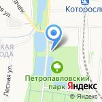 Храм Петра и Павла на карте Ярославля