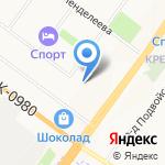 Белочка на карте Ярославля
