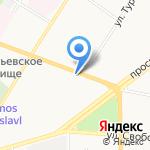 Комплексный центр социального обслуживания населения Кировского района г. Ярославля на карте Ярославля