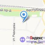 Энергомост на карте Ярославля