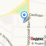 Троллейбусное депо №1 на карте Ярославля