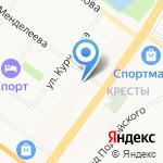 Рассвет на карте Ярославля