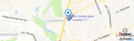 Кварта-Трейд на карте Аксая