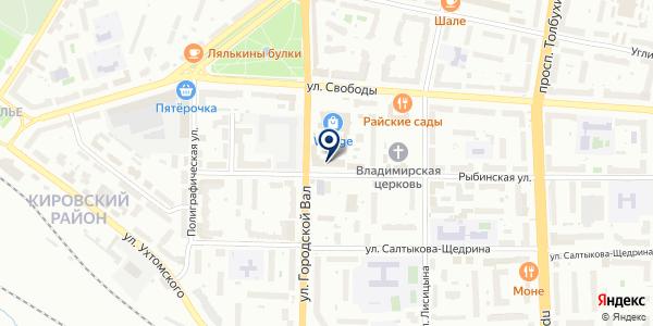 ЯРОСЛАВСКИЙ ФИЛИАЛ АКБ РУСЬ-БАНК на карте Рыбинске