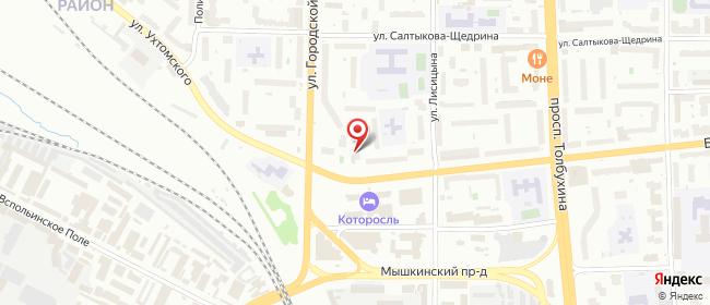 Карта расположения пункта доставки Ярославль Городской вал в городе Ярославль