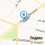 Коралл-Ярославль на карте Ярославля