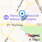 Академическая на карте Ярославля
