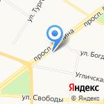 Детская библиотека №4 на карте Ярославля