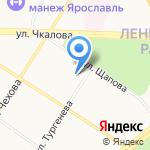 Детский сад №182 на карте Ярославля
