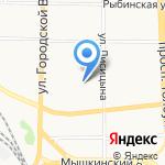 Медвежонок на карте Ярославля