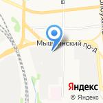 Симтэк на карте Ярославля