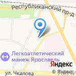 Ярославская школа-интернат №7 на карте Ярославля