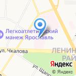 Областная клиническая онкологическая больница на карте Ярославля