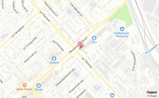 Карта расположения пункта доставки 220 вольт в городе Вологда