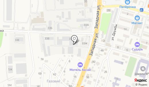 AKUMARKET NRG. Схема проезда в Аксае