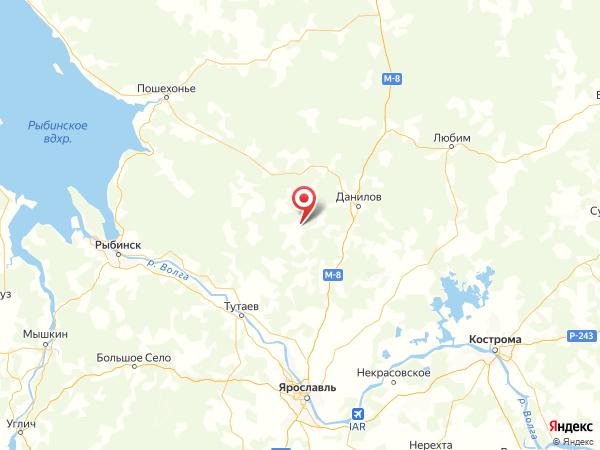поселок Мишутино на карте
