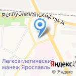 Якорь на карте Ярославля