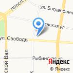 Прокуратура Ярославского района на карте Ярославля