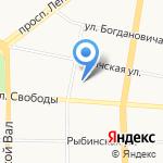 Детский сад №124 на карте Ярославля