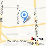 На углу на карте Ярославля