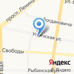 Школа для малышей на карте Ярославля