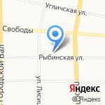 Ярстройэлита на карте Ярославля