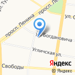 Магазин швейной фурнитуры на карте Ярославля