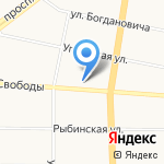Ода на карте Ярославля