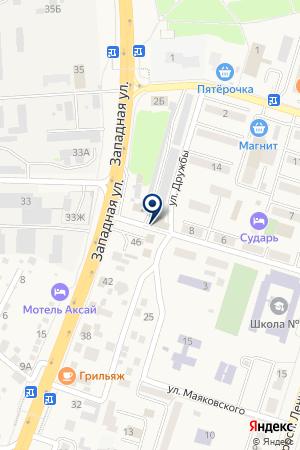 Майдан на карте Аксая