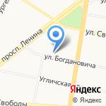 Институт развития образования на карте Ярославля