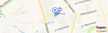 Автомойка для грузовых автомобилей на карте Аксая