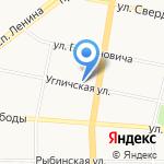 Школьница на карте Ярославля