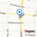 Данила-Мастер на карте Ярославля