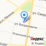 За столбами на карте Ярославля