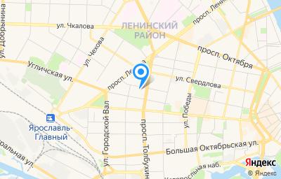 Местоположение на карте пункта техосмотра по адресу г Ярославль, ул Угличская, д 12