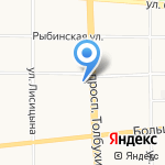Агентство недвижимости Ефимовой на карте Ярославля