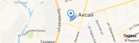 Факел на карте Аксая