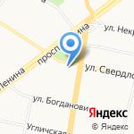 Jираф на карте Ярославля