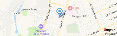 Магистраль ЧОУ на карте Аксая