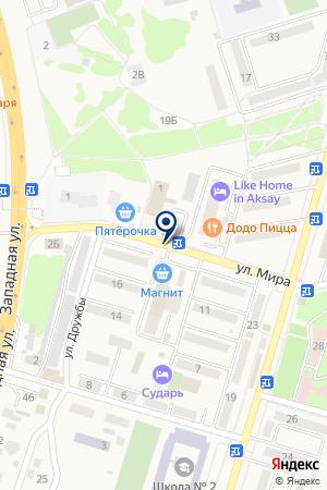 МАГАЗИН ЗАЩИТА-ТЭСМО на карте Аксая
