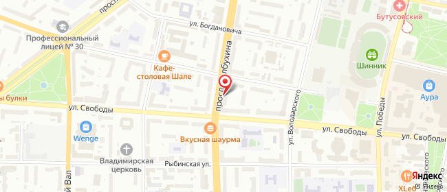 Карта расположения пункта доставки Ярославль Толбухина в городе Ярославль