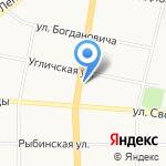 Яроблтур на карте Ярославля
