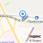 Приволжье на карте Ярославля