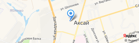 Участковый пункт полиции на карте Аксая