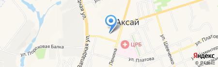 Парк Флора на карте Аксая