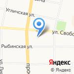 Средняя общеобразовательная школа №49 на карте Ярославля