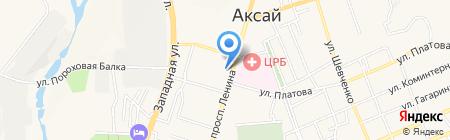 Банкомат Московский Индустриальный банк на карте Аксая