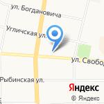 Ломком на карте Ярославля