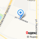 Салмед на карте Ярославля